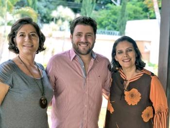 A Equipe: Cecília Leite (enfermeira), Dr. Leandro Vasconcelos (Psiquiatra) e  Sandra Ferreira (enfermeira)