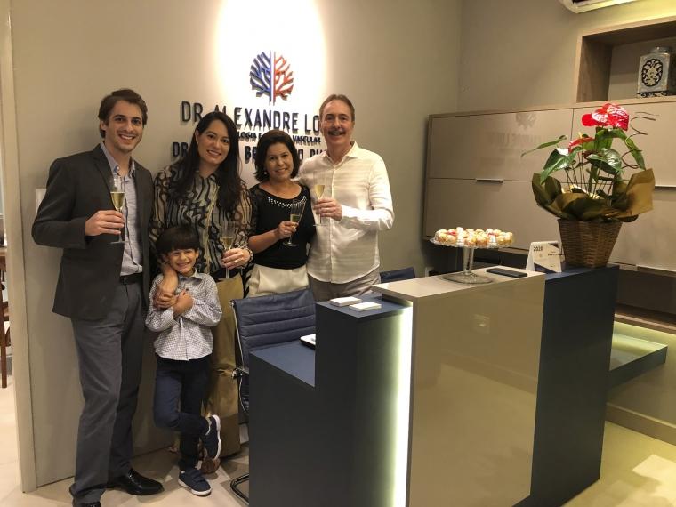 Dr. Alexandre Lobue, Dra. Liana, Rafael, Liliane e Dr. Evaldo Piantino.