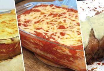 LASANHA de costela | LASANHA  de pão sírio | PICANHA ao molho gorgonzola