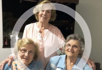 Irmãs Carvalho: Talmirsis (90 anos), Marilena (88 anos) e Juvenila (86 anos).