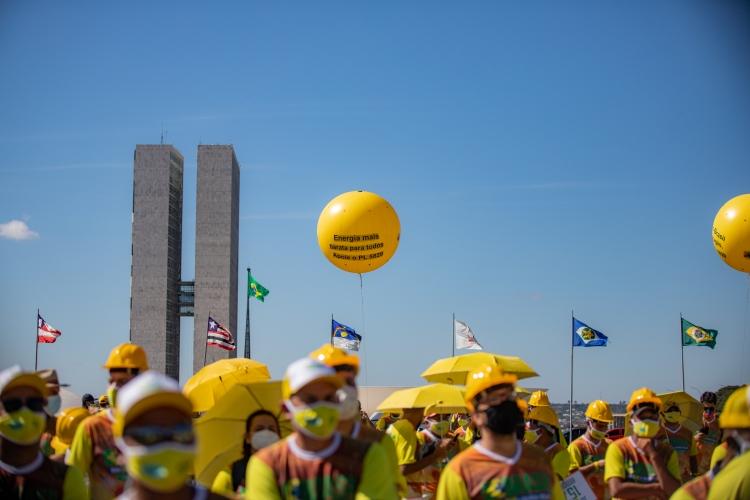 O manifesto contou com a presença de diversas empresas espalhadas pelo Brasil.