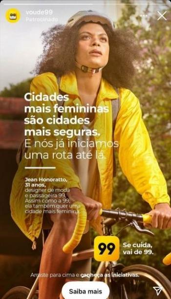 Livre, leve e solta! Olha ela... toda ciclista espalhada por toda S�o Paulo na nova campanha da 99.