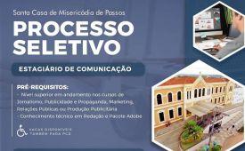A Santa Casa está contratando estagiário na área de Comunicação