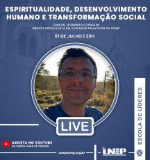 """LIVE: """"Espiritualidade, Desenvolvimento Humano e Transformação Social"""""""